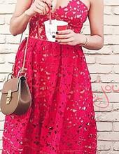2016 New arrive sexy flower lace dress(China (Mainland))