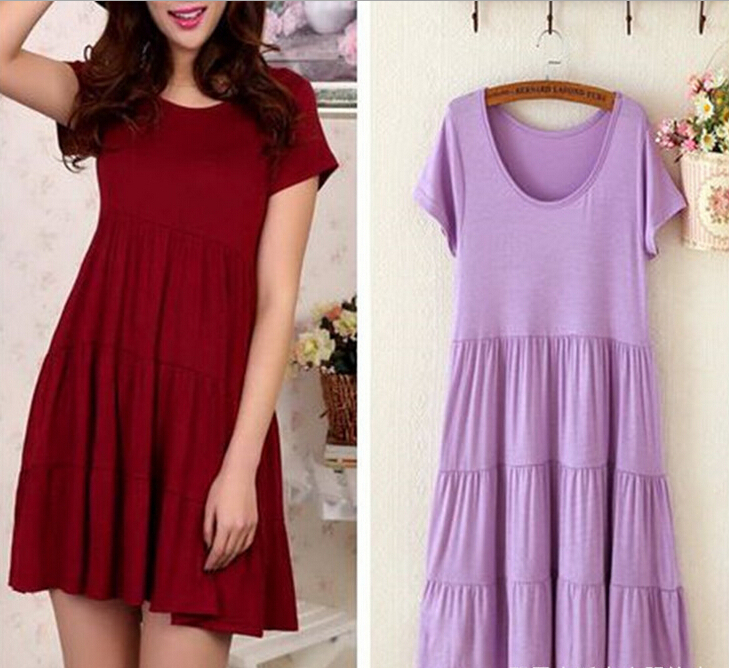 New Fashion summer Maternity Clothing pregnancy Modal cake skirt short sleeves Casual Maternity Dress Sexy Maternity Clothes(China (Mainland))