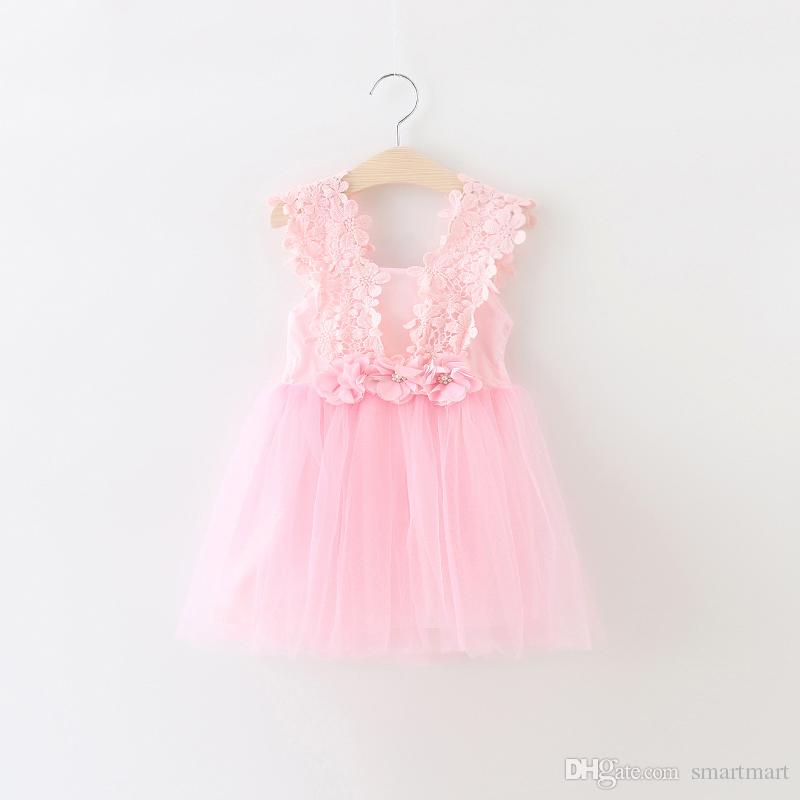 Kid Summer Dress For Girl Lace Flower Cute Little Princess Dresses Children Girls' Clothing For Birthday Party Tulle Tutu Dress(China (Mainland))