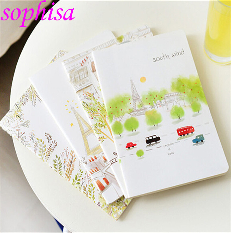 Valentine's day gifts/South Korea's book cute cartoon notebook thin model/school notebook A5/school supplies/free shipping(China (Mainland))
