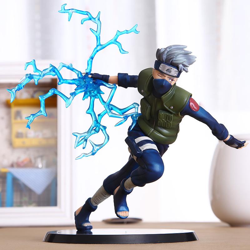 22cm Cool Naruto Kakashi Sasuke Action Figure Anime puppets Figure PVC Toys Figure Model Table Desk Decoration Accessories(China (Mainland))