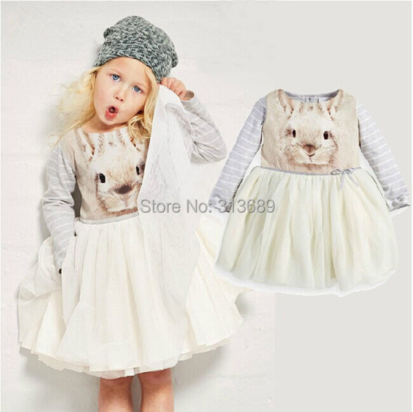 baby girls dress bunny birthday toddler dresses children's costume resale clothing kid clothes deguisement vetement enfant fille(China (Mainland))