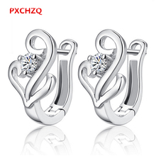 Ms. fashion aesthetic S925 silver jewelry upscale U-shaped ear buckle retro natural crystal ear ring one pair price
