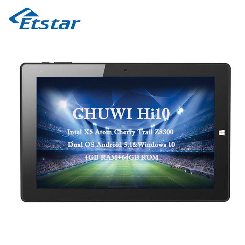 "Original Chuwi Hi10 Dual OS Android 5.1&Windows Tablet PC X5 Atom Cherry Trail Z8300 Quad Core 10.1"" 1920x1200 4GB 64GB(Hong Kong)"