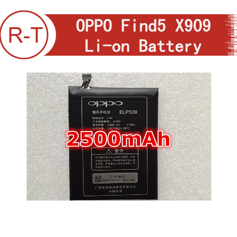 Original Oppo Find 5 Battery 2500mah Li-on Battery Replacement For OPPO Find5 X909 smart phone free shipping tracking number