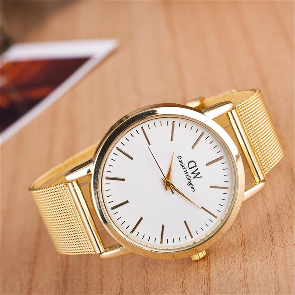 fashion dw luxury golden belt bracelet quartz watches