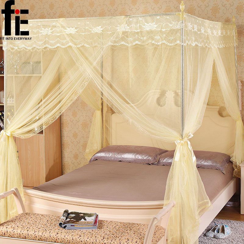 free shipping palace mosquito nets large space soft full prevent mosquitoes with Stainless steel frame nets princess court(China (Mainland))