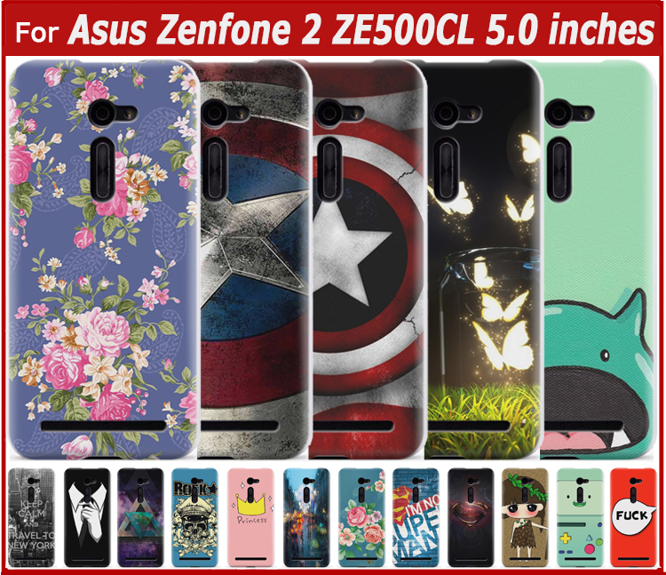 Hard Back Case For Asus Zenfone 2 ZE500cL 5.0 inches Cell Phone Cases Asus Zenfone 2 ZE500cL Phone Cover(China (Mainland))