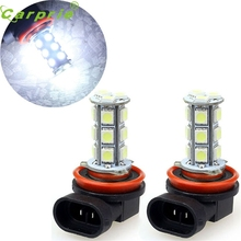 Buy CARPRIE Super drop ship 2x H11 H8 18 LED 5050 SMD Car Day Fog Head light Lamp Bulb Xenon White Mar713 for $3.42 in AliExpress store