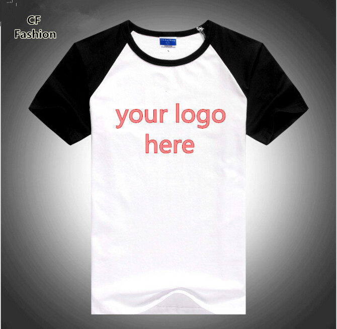 custom logo t shirts 8 colors high quality summer style tshirt homme 100% cotton unisex men t shirt brand clothing tee tops(China (Mainland))