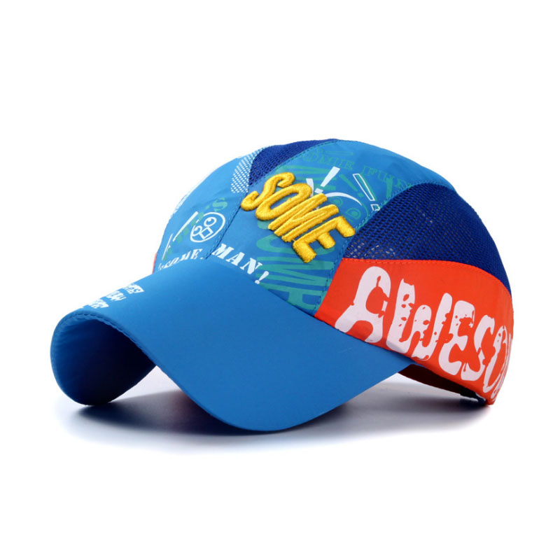 2016 New Summer Mesh Breathable Baseball Caps for 5~14 Years Old Girls or Boy Cap Kids Hats 8 Colors Z-3033()