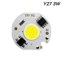 Diodo conduzido da microplaqueta da espiga 220 v 3-9 w 10 w 20 w 30 w 50 w para a ampola da lâmpada da matriz de luz retangular spotlight y27 y32 não precisa o motorista conduzido(China)