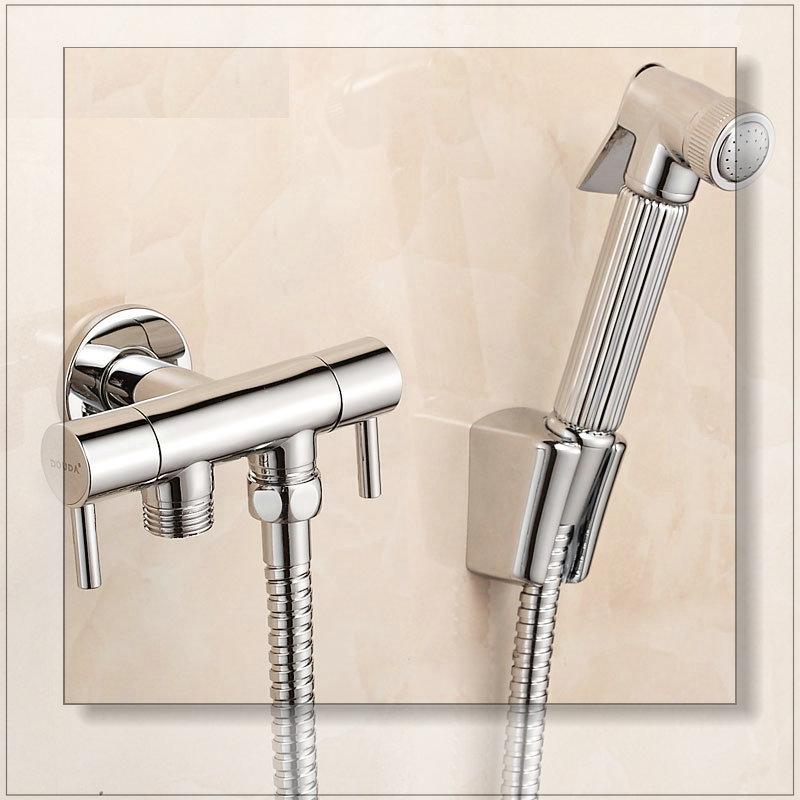 Sanitary ware copper bidet faucets toilet dual usage spray gun set mixer(China (Mainland))