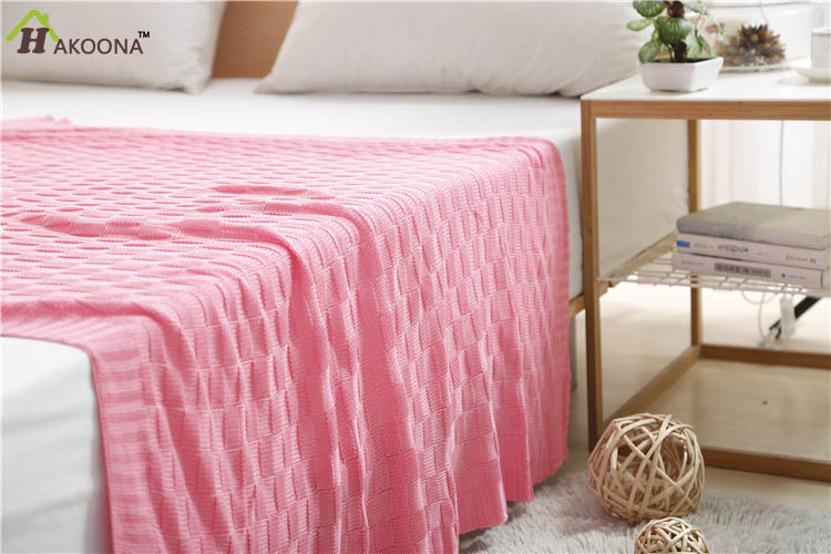 HAKOONA Brand Neonatal Bamboo Fiber Baby Blankets Newborn Kids Sided Knit Blanket For bed 47.24''x43.30'' High Quality Grade A(China (Mainland))