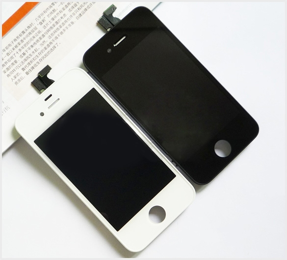 Black White High Quality LCD For iPhone 4S LCD Display Touch Digitizer Screen With Frame Assembly 15pcs/lot(China (Mainland))