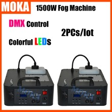 Buy 2PCs/lot 1500W 24pcs*3W RGB CO2 Blast LED Fog Machine DMX512 DJ Spray Wireless Remote Control Smoke Machine Free for $462.00 in AliExpress store