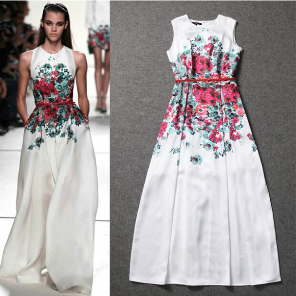 white floral maxi dresses - ChinaPrices.net