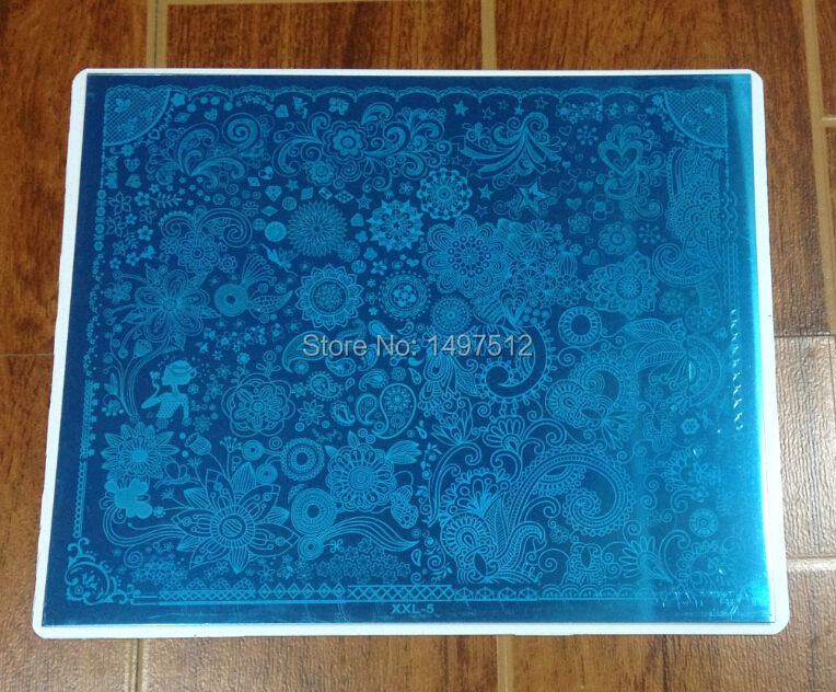 Pre-sale 2015 Newest Flower 30.5*25CM Nail Art Stamping Image Plates Manicure Tools XXL-05(China (Mainland))