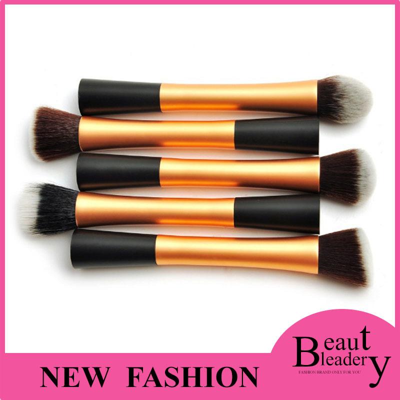 Makeup Brushes Professional Set Kit Tools Metal Handle Professional Make up Face Brush 4 Colors Women Black Brand Make Up Brush(China (Mainland))