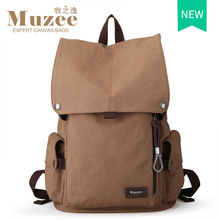 2016 Muzee New Male Canvas Backpack High Capacity Travel Bag Laptop 15.6 inch backpack Men School Bag Rucksack mochila(China (Mainland))