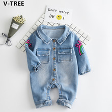 Buy V-TREE Baby Boys Girls Jeans Rompers Spring Children Long Sleeve Cartoon Denim Rompers Infants Cotton Outerwears Newborn Coats for $13.99 in AliExpress store