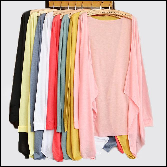 15 candy colors summer sweater women's air conditioning shirt Cardigan Open Casual Womens Tops - Excell Q. store