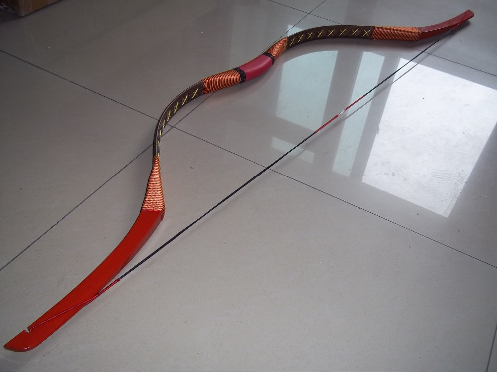 Chinese handmade wooden bow Han type recurve bow 40# Customized type(China (Mainland))