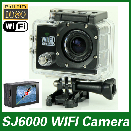 NEW SJ6000 Sport Action Camera WIFI Full HD 1080P 30FPS 170 Degree Lens 2.0 inch LCD Screen 30M Waterproof go pro camera style(China (Mainland))