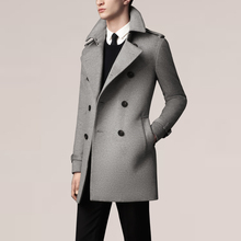 Wholesale new 2015 autumn winter British Luxury Brand wool cashmere man trench coat double-breasted designed men coats M~XXL(China (Mainland))