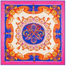 Chinese style element ladies' silk scarves flowers pattern digital print women silk shawl new 2016 charm design scarf 130*130(China (Mainland))