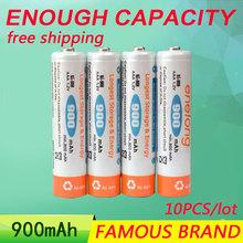 Golooloo Low self-discharge 10pcs/lot enelong batteries AAA 900mAh 1.2V Ni-MH NIMH Ni MH rechargeable BPI battery