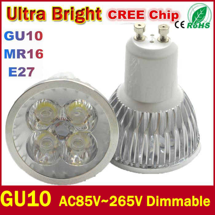Wholesale Best Quality Ultra Bright CREE GU10 LED Bulb 9W 12W 15W 110V 220V Dimmable Led Spotlight Warm/Cool White Free shipping(China (Mainland))