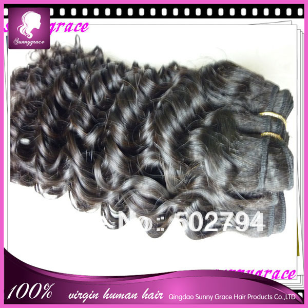 100% Customer Satisfaction!unprocessed natural hair bleached knots hair extension shedding free tangle free for black women(China (Mainland))
