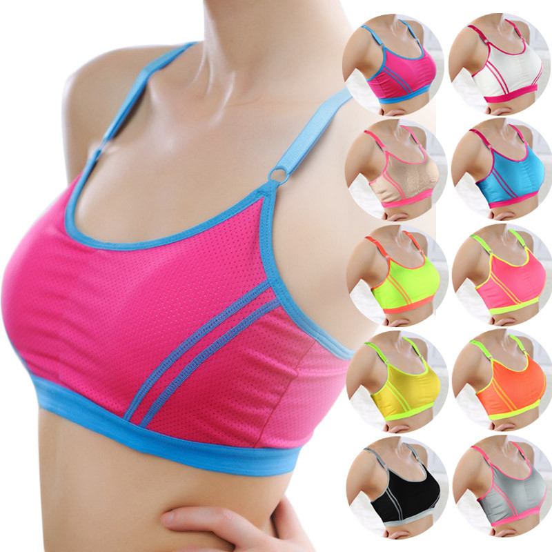2017 Hot sale Women Seamless Walk Lace Desports Leisure Underwear Bra sportif Wrap Chest Crop Top Vest Free shipping & Wholesale(China (Mainland))