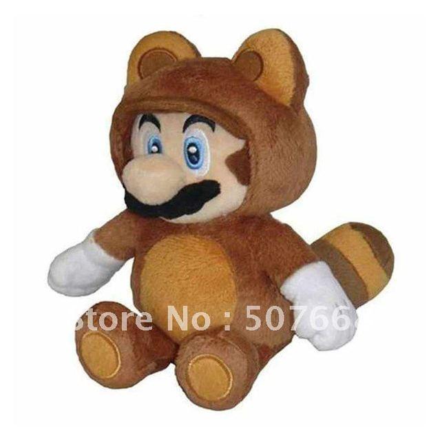 """Mario 8"""" Plush Sanei Doll - Tanooki Suit Mario Wholesale"""