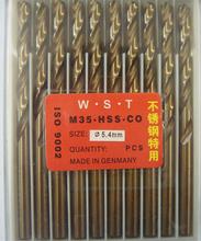 5.4 MM Cobalt broca derecho Shank fresa espiral bit 10 unids = 1 lote M35 materiales