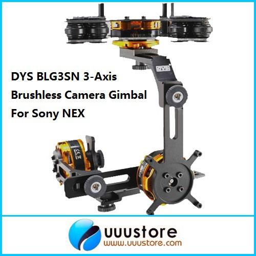 FPV BLG3SN 3-Axis Brushless Camera Gimbal Mount w/3 BGM4108-130 Brushless Motors FPV PTZ RTF For Sony NEX