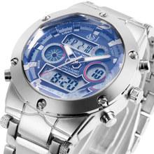 2016 fashion ASJ brand design digital LED man male clock steel cool sport military swim wrist quartz business gift watch