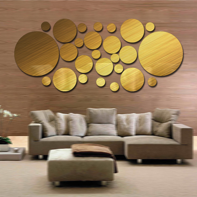 Popular glitter wall stickers buy cheap glitter wall for Miroir ikea rond