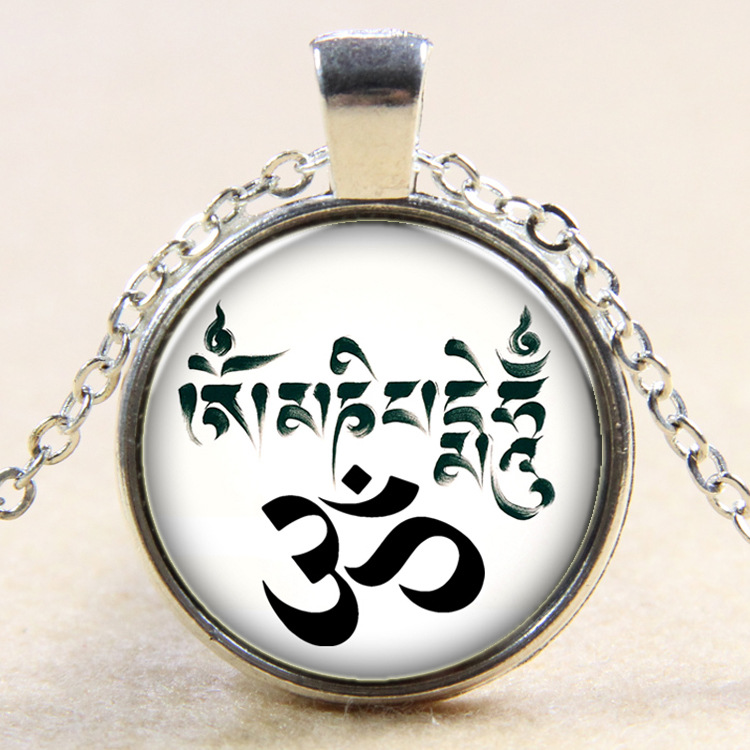 new design yoga om sign necklace india jewelry necklace buddhism(China (Mainland))