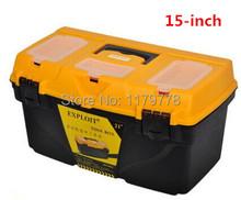Alta calidad pulgadas más gruesos gran capacidad multiusos ABS plástico caja de almacenamiento hogar caja de herramientas viajes herramienta esencial