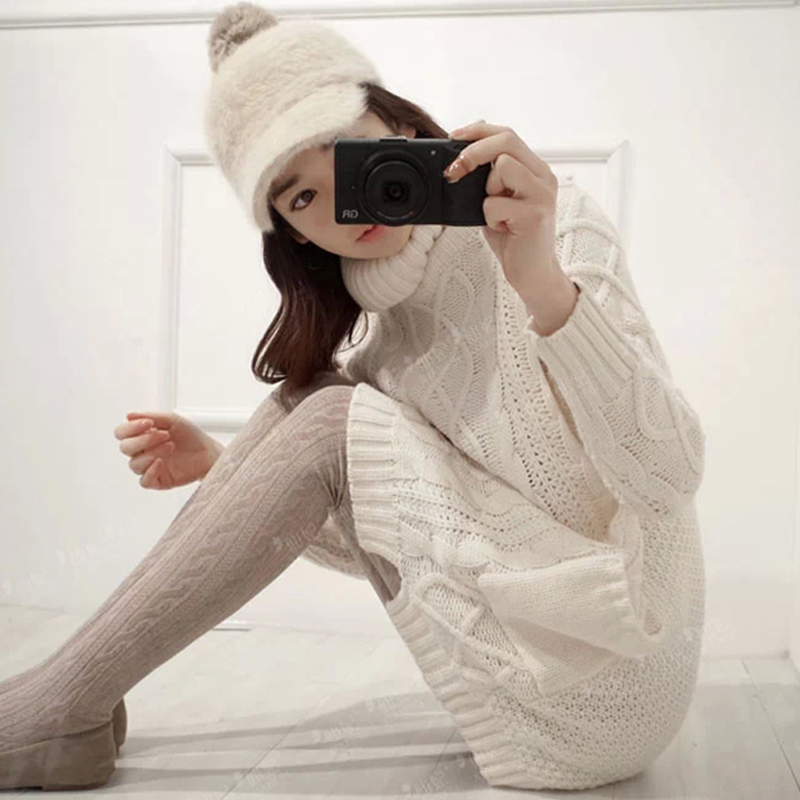 2016 Maternity clothing autumn and winter plus size maternity sweater medium-long pullover thickening sweater turtleneck sweater