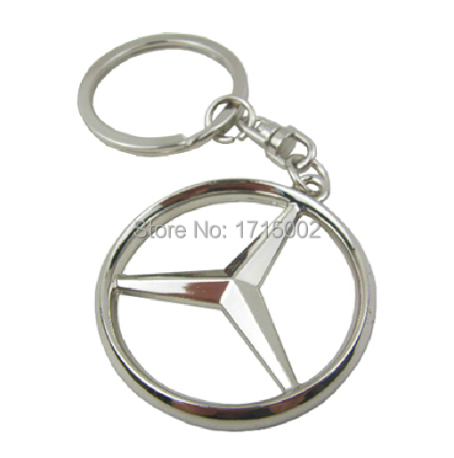 Lg45 3d logo car symbol key ring for mercedes benz keyring for Mercedes benz chain