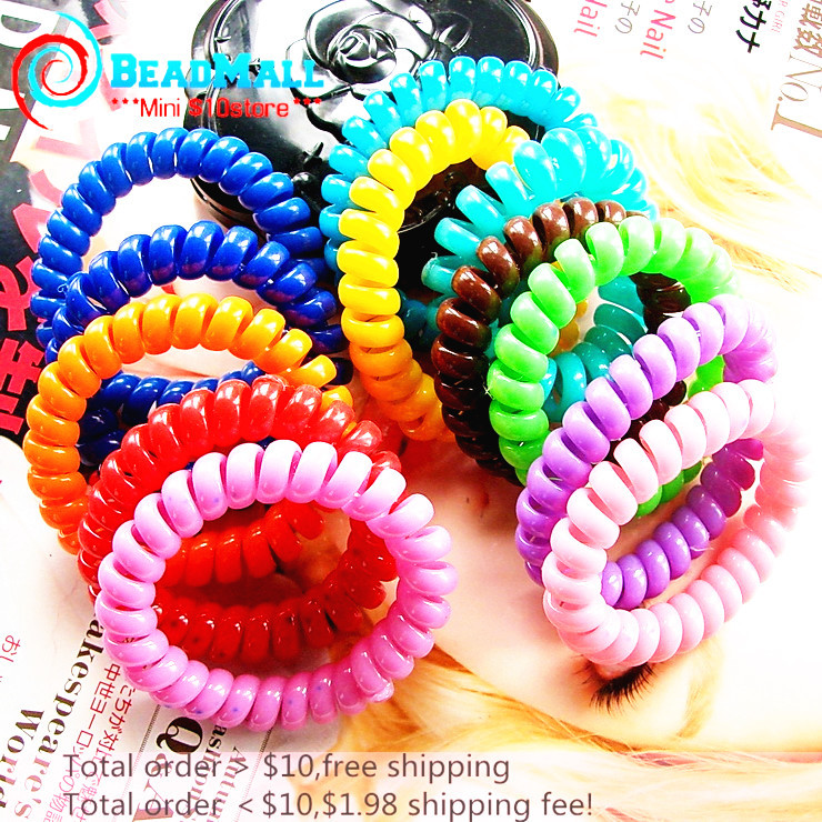 10pcs Candy Color Elastic Hair Bands Hair Accessories Women Headband Hair Ring Band Rope Gum for Hair Tie Headwears(China (Mainland))