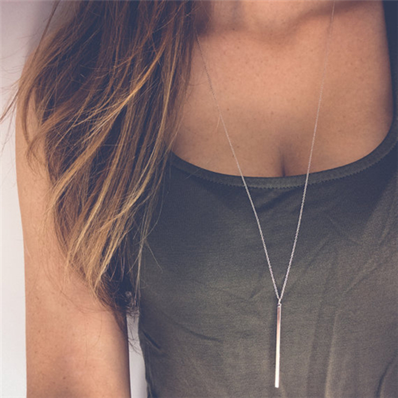 2016 new fashion collier necklace women Gold plated sexy choker body chain bohemian long necklace pendants Vintage jewelry B258(China (Mainland))