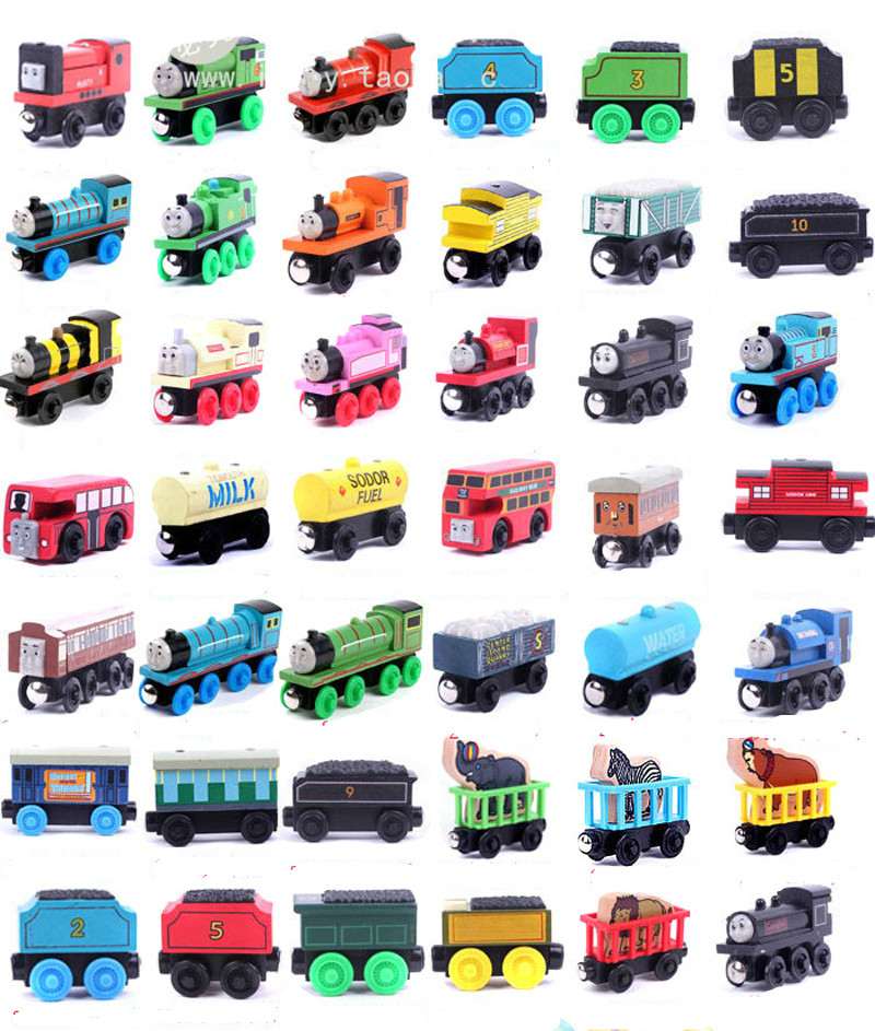 One Set 42PCS Complete Set Thomas Train Wooden Model Toys 42 Designs Thomas and Friends Children's Magnetic Toys Kids Gifts(China (Mainland))