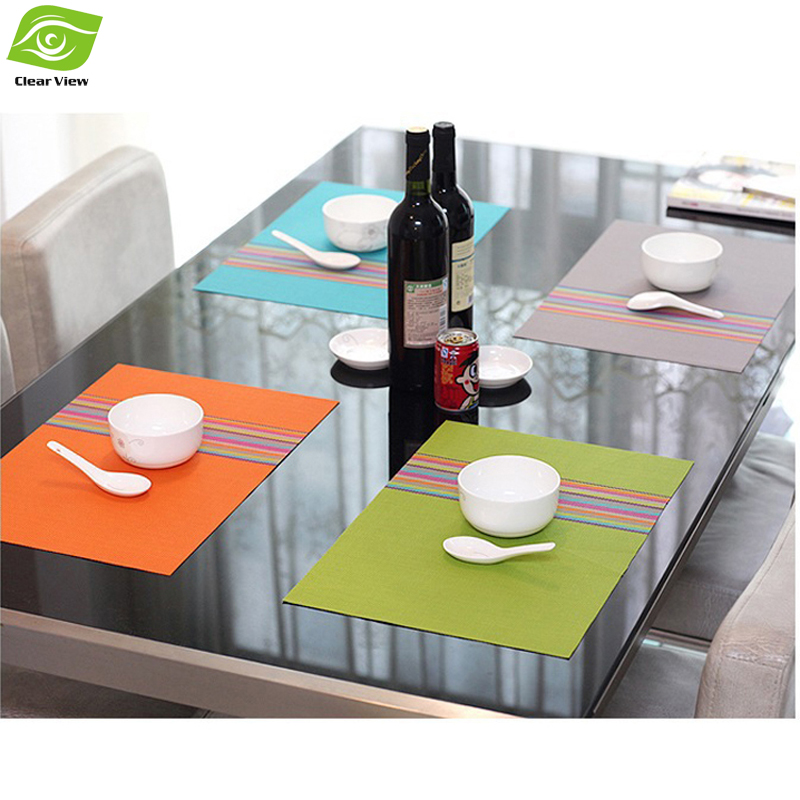 1PC PVC Dining Table Mat Kitchen Accessories Cup Coaster Placemats For Table(China (Mainland))