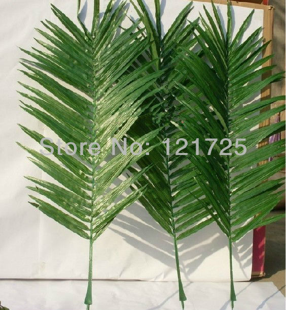 Artificial coconut palm leaves home decoration artificial for Artificial banana leaves decoration
