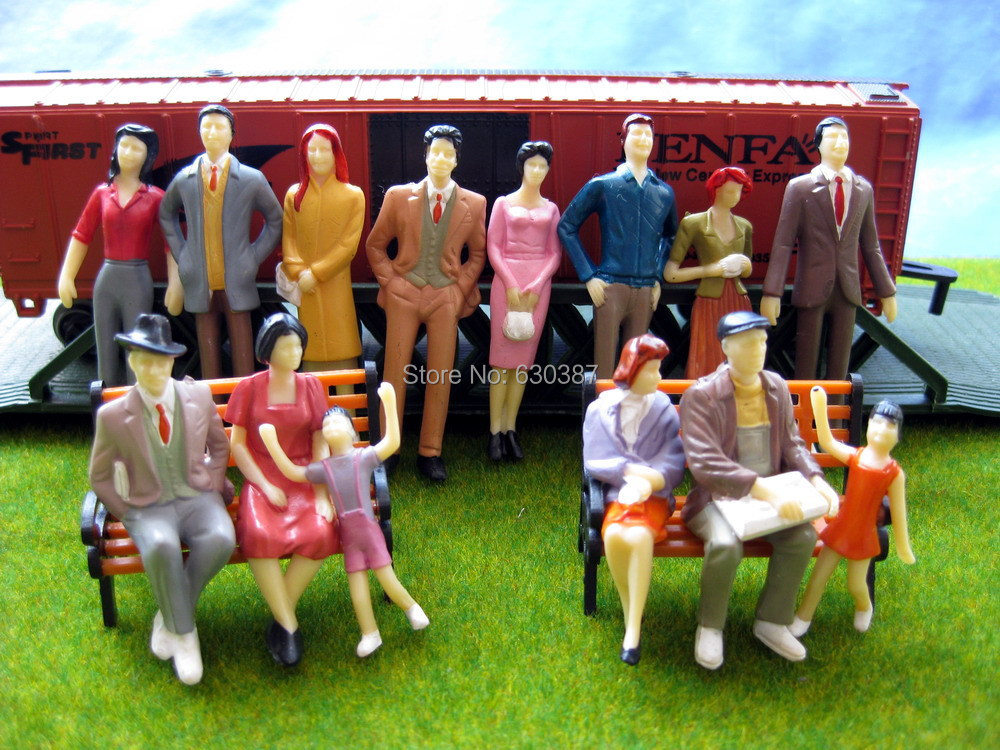P3001 Model Trains 1:30 Painted Figures G SCALE(China (Mainland))