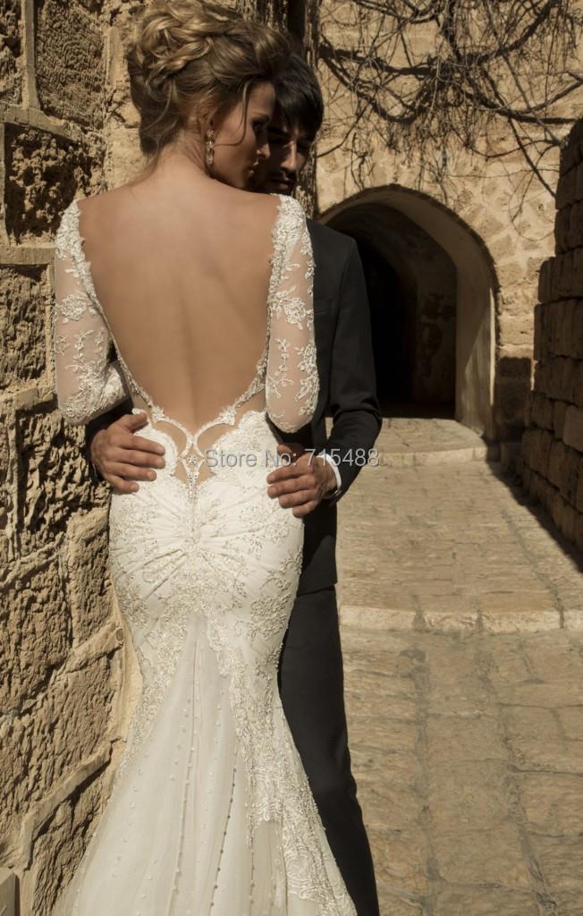 Galia Lahav 2014 Long Sleeve Country Cheap Made China Bridal Dress Turkey Alibaba Wedding Party Dresses - Miss U store